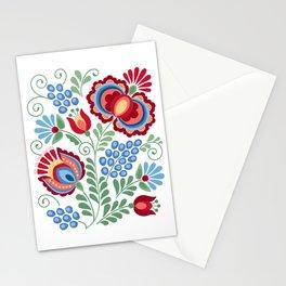 Moravian Folk Design Red Stationery Cards
