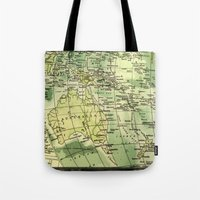 oz Tote Bags featuring Oz Land by strentse