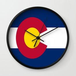 flag colorado,america,usa,south,desert, The Centennial State,Coloradan,Coloradoan,Denver,Springs Wall Clock