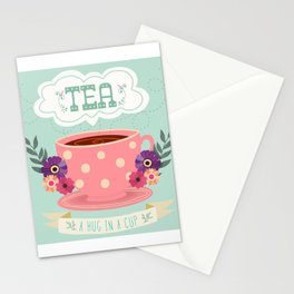 Tea Is A Hug In A Cup Stationery Cards