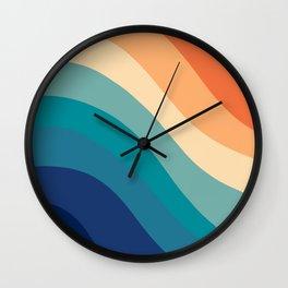 Retro Summer Wave #1 #minimal #decor #art #society6 Wall Clock