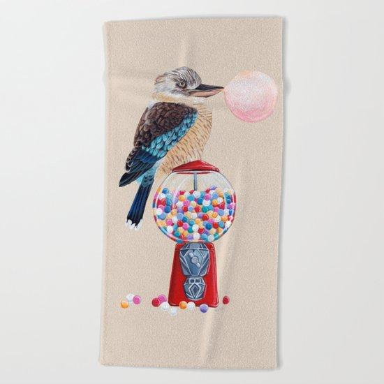 Kookaburra Gumball Machine Beach Towel