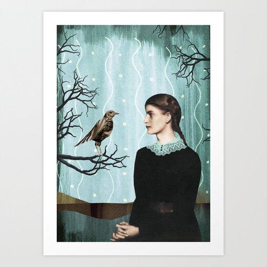 the mechanical bird Art Print