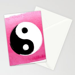 Yin and Yang summer vibes Stationery Cards
