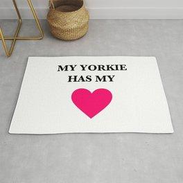 My Yorkie Has My Heart Rug