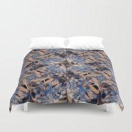 Shades of Blue Flower Garden Duvet Cover