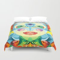 i woke up like this Duvet Covers featuring I Woke up like This by Anai Greog
