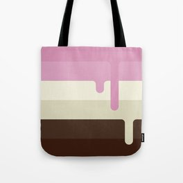 Dripping Neapolitan Ice Cream Tote Bag