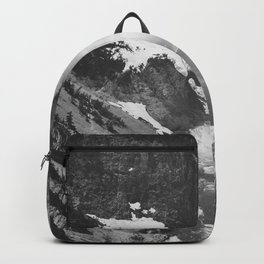 Yellowstone Falls (1941) Ansel Adams Black and White Photography Backpack