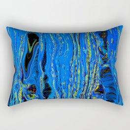 blue flow Rectangular Pillow