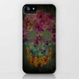 Flower Sugar Skull iPhone Case