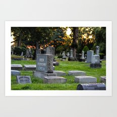 Graveyard Sunset Art Print
