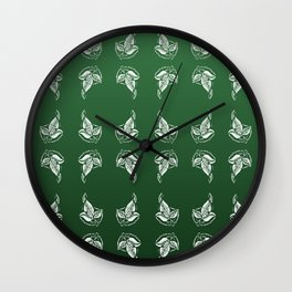 Green Leaf Brooch Wall Clock