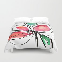 Ecstasy Bloom No. 3 by Kathy Morton Stanion Duvet Cover