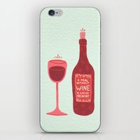 wine iPhone & iPod Skins featuring Wine by Cat Coquillette