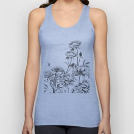 black and white peonies Unisex Tank Top