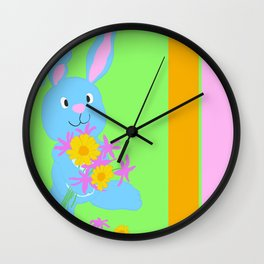 Scout with Flowers: #Hoppiness Wall Clock