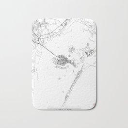 Venice Map White Bath Mat