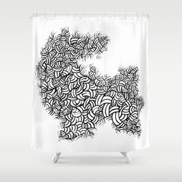 Abstract 65581081 Shower Curtain