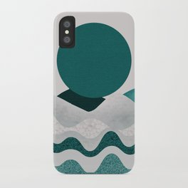 Green moon iPhone Case