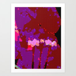 Totally Abstract Bougainvillea Art Print