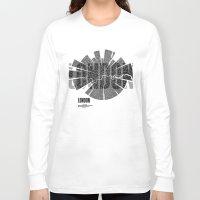 london map Long Sleeve T-shirts featuring London Map by Shirt Urbanization