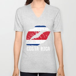 CRI Costa Rica Kiss Lips Shirt Unisex V-Neck