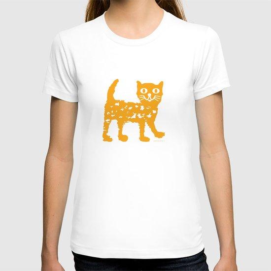 Orange cat illustration, cat pattern by annasko