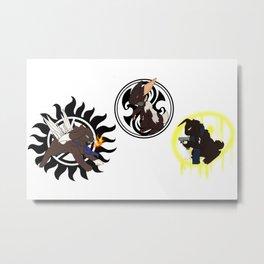 Superwholock Bunnies Metal Print