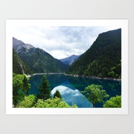 长海 // Long Lake, Jiuzhaigou Art Print