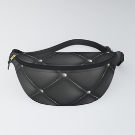 Black Quilted Leather Fanny Pack
