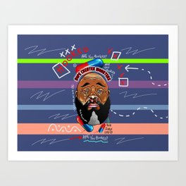 Dope Creates Monsters Fully Loaded Art Print