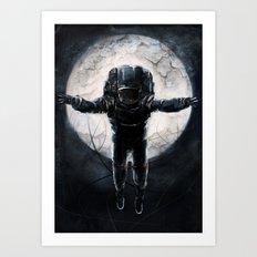Lunar Figure  Art Print
