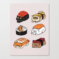 Sushi Persian Cat Canvas Print