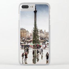 Trafalgar Square, London, at Christmas Clear iPhone Case