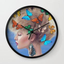 Retro Portrait | Portrait Art | Retro Decor  Wall Clock