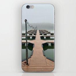 Fog on Lake Austin iPhone Skin