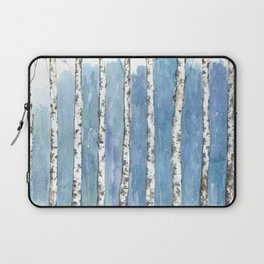 Blue forest painting Laptop Sleeve