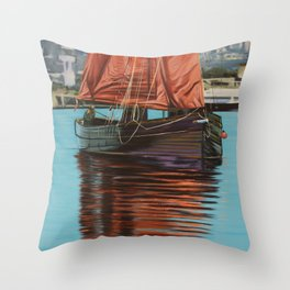 Mystery Ship Throw Pillow