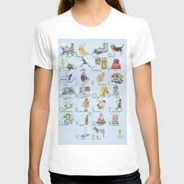 ABC English alphabet for boys T-shirt