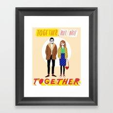 Together but not together Framed Art Print