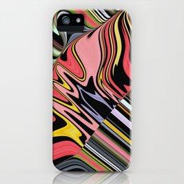 POW vivid explosion of bright color creates psychedelic design iPhone Case