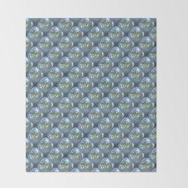 Blue Shimmering Pearls Throw Blanket