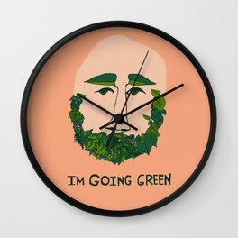 I'm Going Green Wall Clock