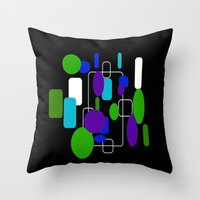 community Throw Pillows featuring Community by lillianhibiscus