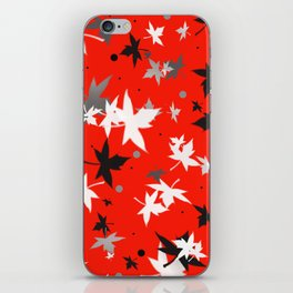 Forever Autumn Leaves red 5 iPhone Skin