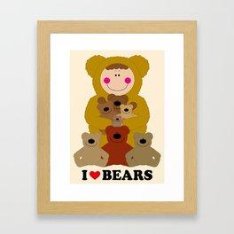 I♥BEARS Framed Art Print