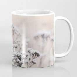 Winter Romance Fragile Dry Plants On Frosty Winter Morning Coffee Mug