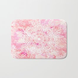 Queen Starring of Mandalas-Rose Bath Mat