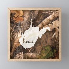 West Virginia is Home - Camo Framed Mini Art Print